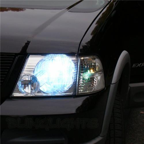 Ford Explorer Bright White Head Lamp Light Bulbs Pair Upgrade Set