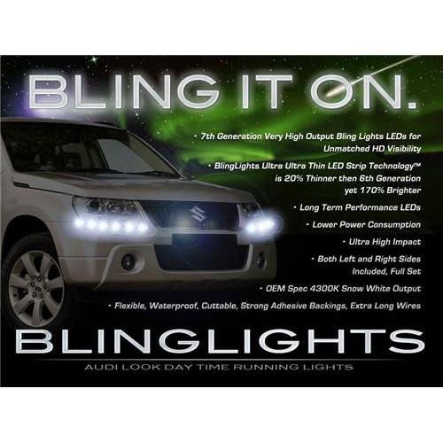 Suzuki Grand Vitara LED DRL Light Strips for Head Lights Day Time Running Light