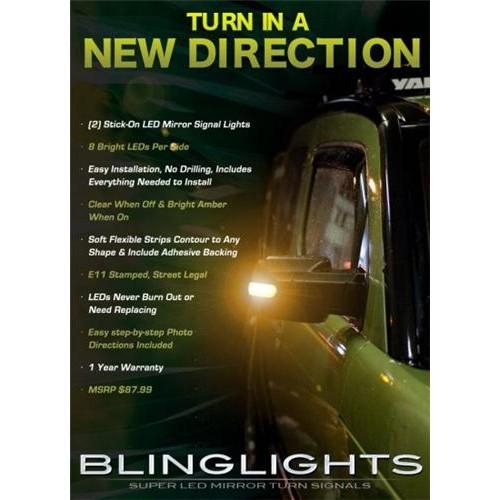 2003-2011 Honda Element LED Turnsignals LEDs Turn Signals Side Mirror Signalers