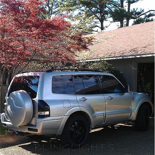 Mitsubishi Pajero Tinted Smoked Tail Lights Protection Overlay Film