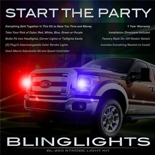 Ford F-450 Super Duty Strobes Head Lights F450 SuperDuty Strobe Light Kit