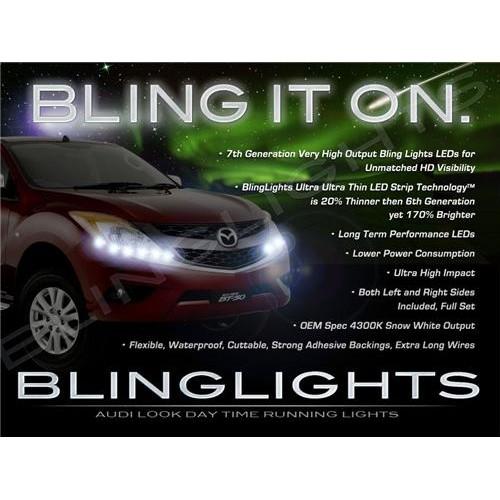 Mazda BT-50 BT50 LED Strip Lights DRL Head Lamp Kit Set Day Time Running Lighti
