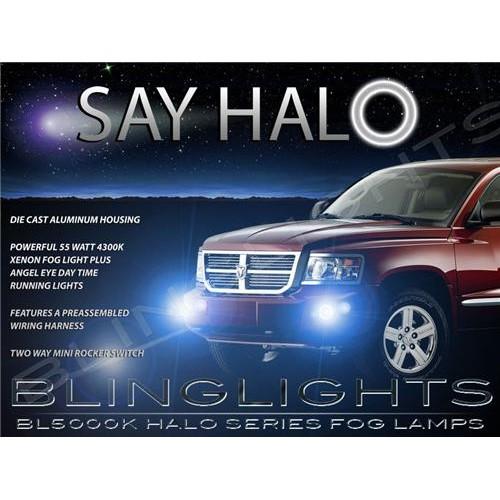 2008 2009 2010 2011 Dodge Dakota Halo Fog Lights Angel Eye Driving Lights Fog L