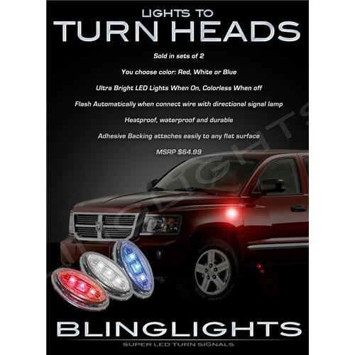 Mitsubishi Raider LED Accents Turnsignals Lights Quarter Panel Markers Turn Sig
