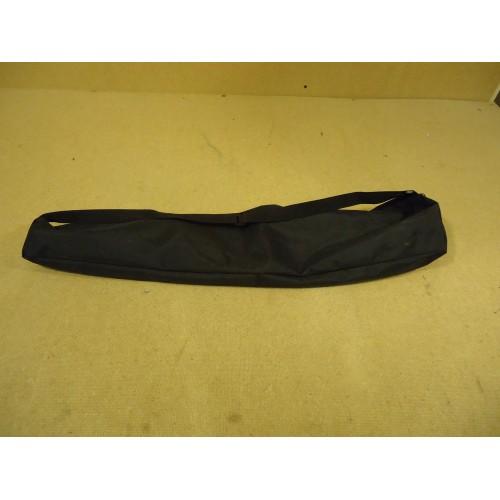 Designer Equipment Bag 28in x 7in Black 17in Zipped Closure Vinyl