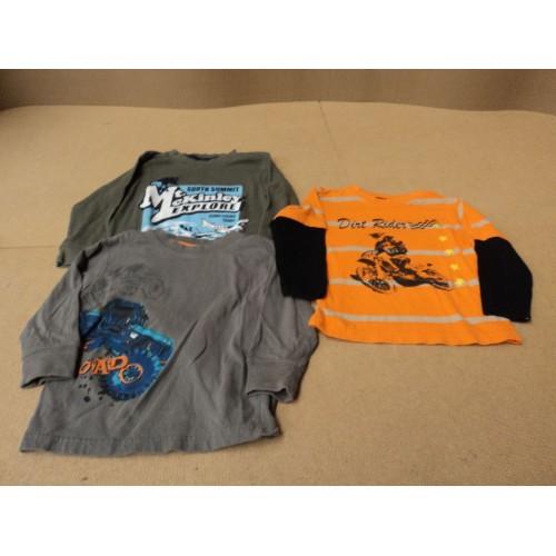 Kids Korner Shirts Lot of 3 Cotton 100% Kids 2-4 3T Multi-Color