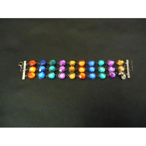 Designer Fashion Bracelet Chain/Link Plastic Metal Female Adult Multi-Color