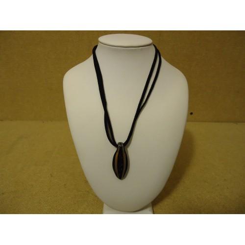 Designer Fashion Necklace 15in L Drop/Dangle Female Adult Blacks/Browns