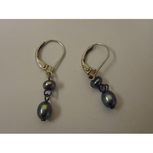 Designer Fashion Earrings Drop/Dangle Metal Female Adult Silver/Greens