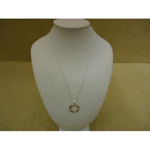 Designer Fashion Necklace 16in L Love Chain Dangle Metal Female Adult Silver