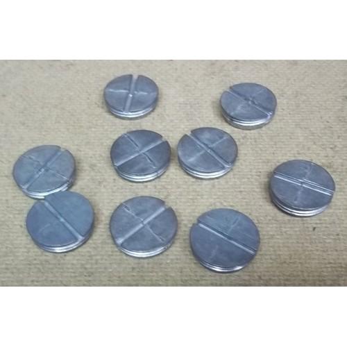 Conduit Plugs 3/4in Zinc Lot of 9