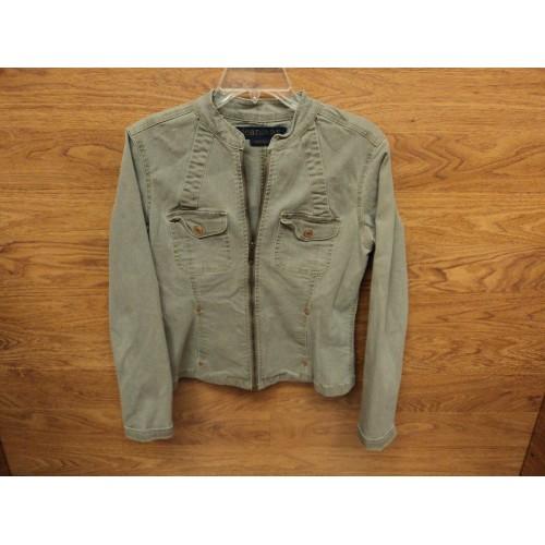 Jeanstar Jean Jacket Coat 98%-Cotton Female Adult M Grays Solid