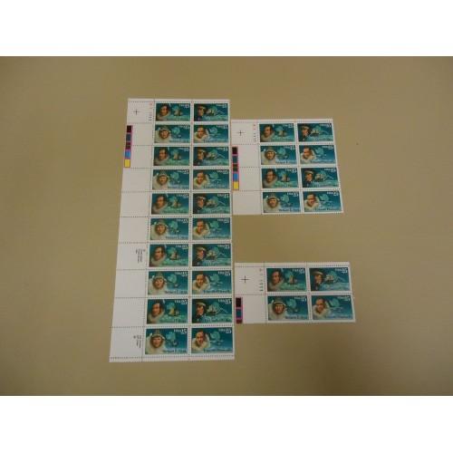 USPS Scott 2386-89 25c Antartica Explorers Stamps Lot of 3 Plate Block 32 Stamps