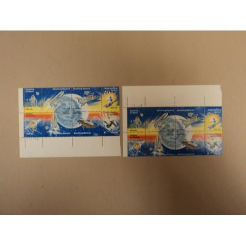 USPS Scott 1912-19 18c USA Space Achievement Lot of 2 Plate Block Mint NH