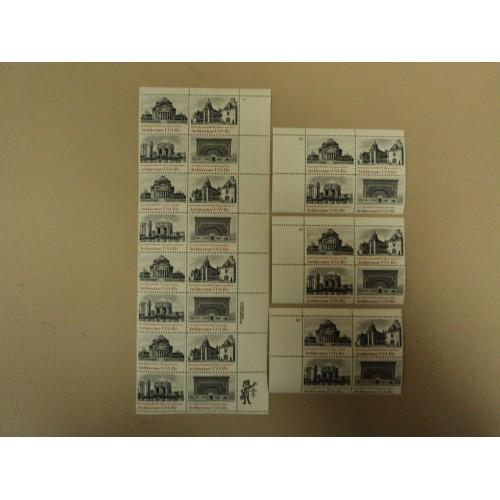 USPS Scott 1928-31 18c 1981 American Architecture Lot of 4 Plate Block Mint NH