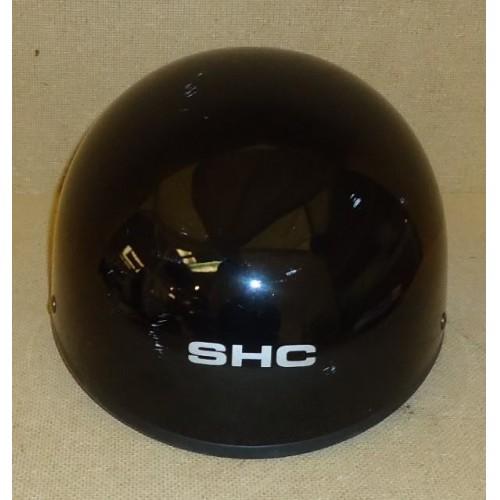 SHC 50 DOT Motorcycle Helmet Size S/M Black Plastic Foam Nylon