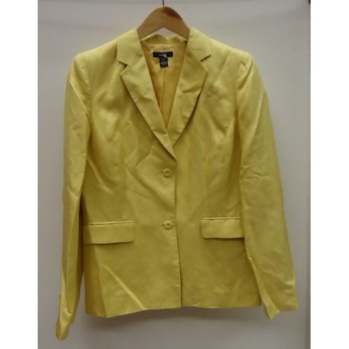 Alfani Coat Silk Female Adult 10 Yellow Solid 014-15AF