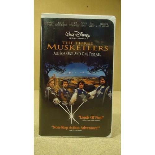Disney The Three Mucketeers VHS Movie  * Plastic *