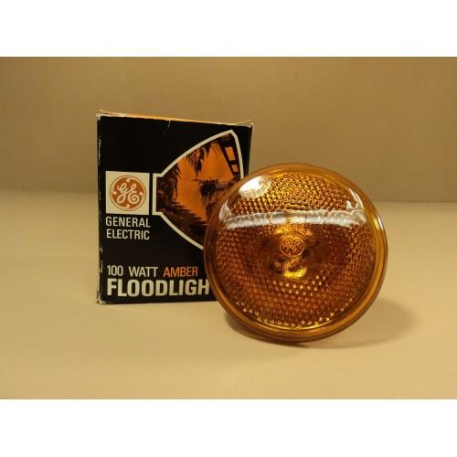 General Electric Amber Floodlight 100w 100 PAR/A
