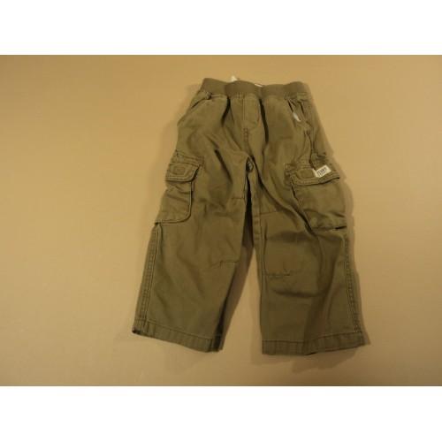 Place Boys' Pants Waist Drawstring Khaki 100% Cotton Male Kids 2-4 3T Solid