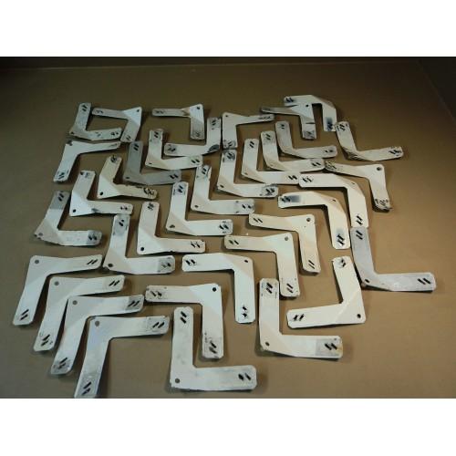 Professional Door Rack Brackets Lot of 37 Painting 6in L x 6in W x 1/8in H Metal