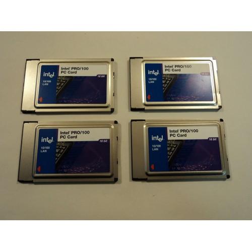 Intel 10/100 LAN Pro PC Card Adapter 16 Bit Lot of 4 MBLA1600