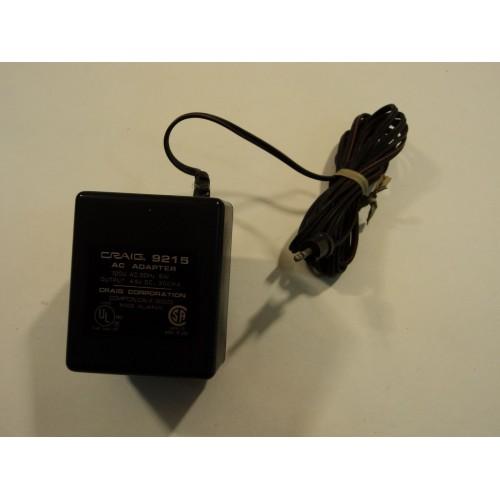 Craig Power Adaptor AC 4.5VDC 300mA 120VAC 60Hz 6W 9215