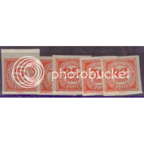 Austria 1920 SC#J93,5,7-9 MNH-OG L455
