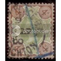Great Britian 1887 Queen Victoria SC#116/SG#205  Hinge Remnant