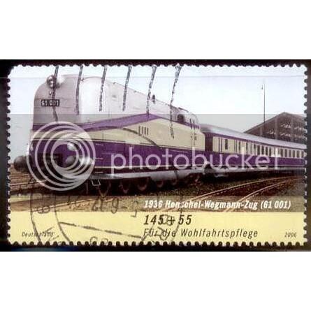 German Train Stamp SC# B980