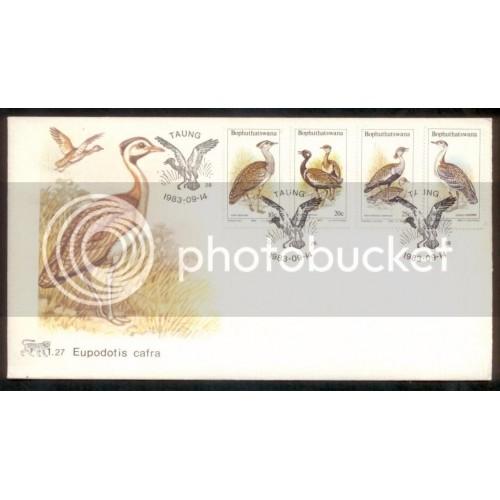 South Africa - Bophuthatswana 1983 Birds SC# 112-5 FDC