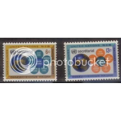 UN-NY 1967 SC#181-2 MNH-OG L394