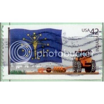 USA 2008 Indiana State Flag SC#4290 Used