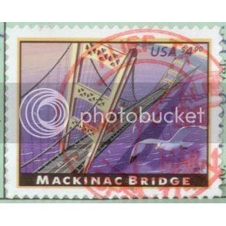 USA 2009  Mackinac Bridge Priority Mail SC#4438 Used