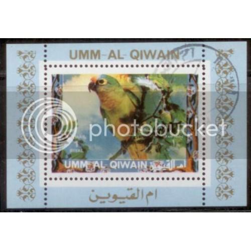 Umm al Qiwain 1972 Bird Mini-Sheet Used