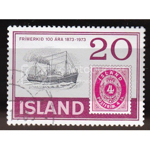 ICELAND 451 Iceland's First Postage Stamps CV = 0.20$