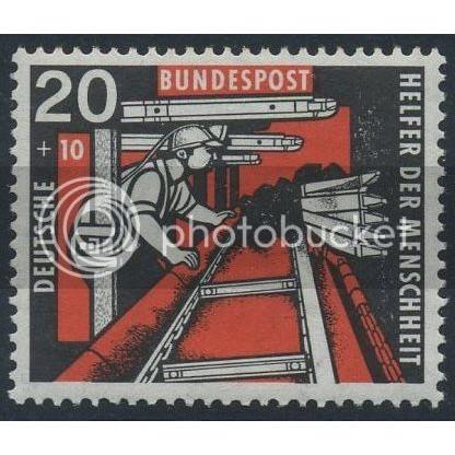 1957 GERMANY Scott B358 (Michel 272) MNH SINGLE