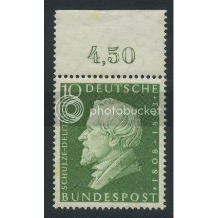 1958 GERMANY Scott 789 (Michel 293) MNH SINGLE w/ top margin (b)