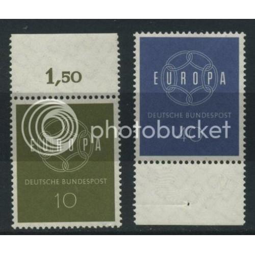 1959 GERMANY Scott 805-806 (Michel 320-321) MNH SET of 2 SINGLES (a1)