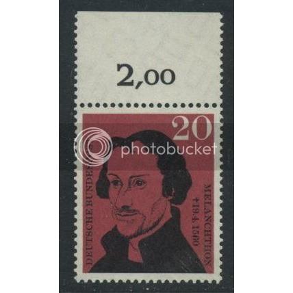 1960 GERMANY Scott 809 (Michel 328) MNH SINGLE w/ top margin (a)