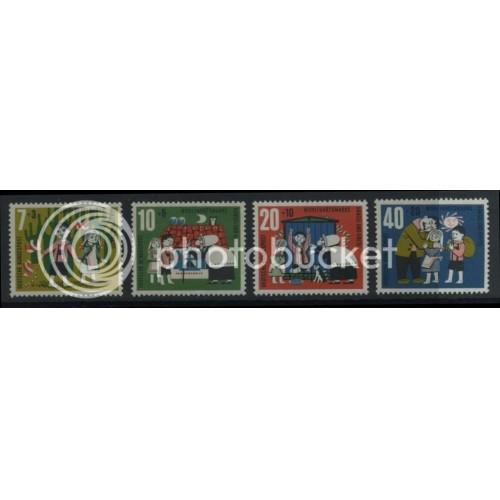 1961 GERMANY Scott B376-B379 (Michel 369-372) MNH SET of 4 SINGLES