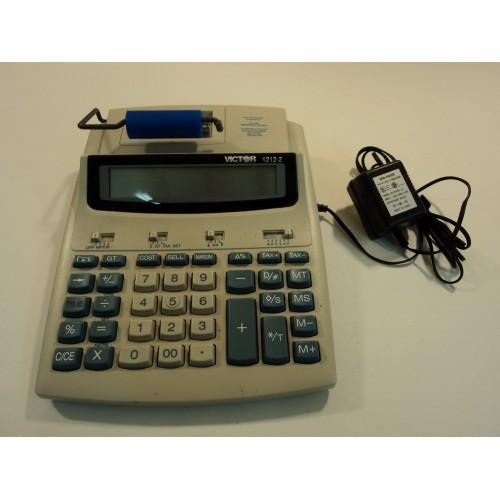 Victor Printing Calculator 12 Digit LCD Gray/Blue 1212-2