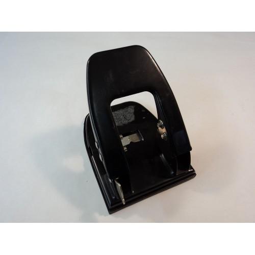 Standard Two Hole Paper Punch 6in L x 5in W x 5in D Black