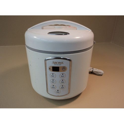 Aroma Rice Cooker 20 Cup Steamer Slow Cooker White ARC-2000