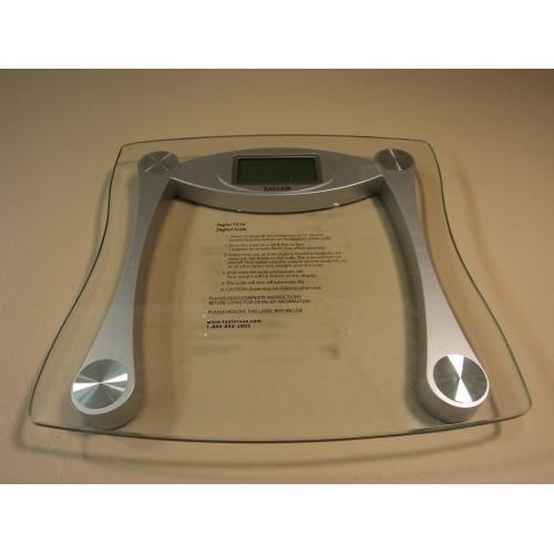 Taylor Digital Scale Bathroom Style Clear/Silver 440LB Capacity 7516 Glass