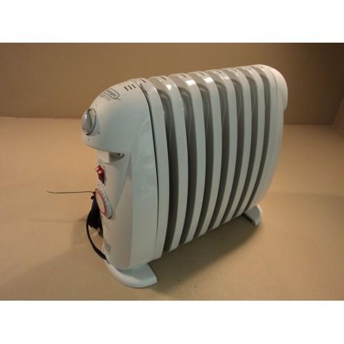 DeLonghi Electric Oil Filled Radiator Heater Gray 1200W Safeheat Timer TRN0812T