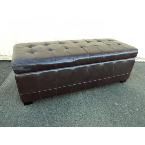 Hangzhou Furniture Bench Seat With Storage 51in L x 19in W x 19in D Espresso