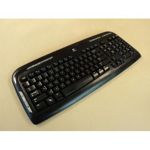 Logitech Multimedia Wireless Computer Keyboard Black EX110 Y-RAZ71 820-001176