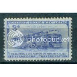 1006 3c B & O Railroad Fine MNH