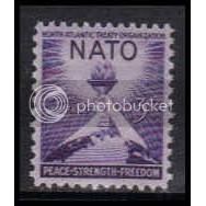 1008 3c NATO Fine MNH Plt/4 UR 24634 Plt15553